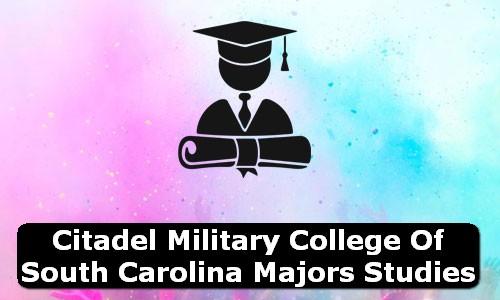Citadel Military College of South Carolina South Carolina Majors Studies