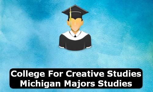 College for Creative Studies Michigan Majors Studies