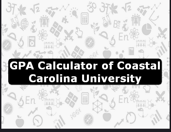 GPA Calculator of coastal carolina university USA