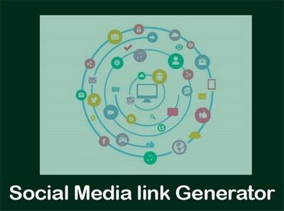 Social Media link Generator Button